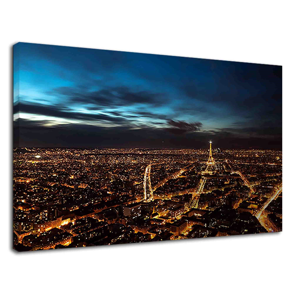 Night Sky And City Lights Of Paris For Living Room