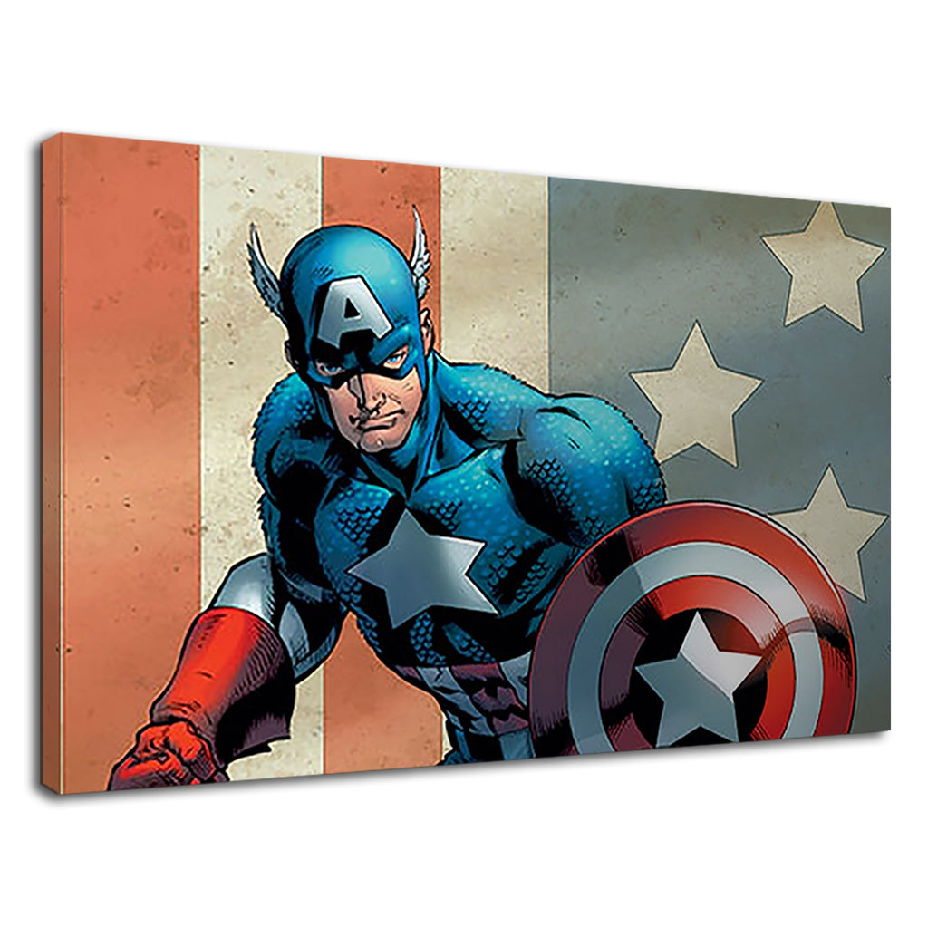 Captain America Justice League Marvel Dc Comic