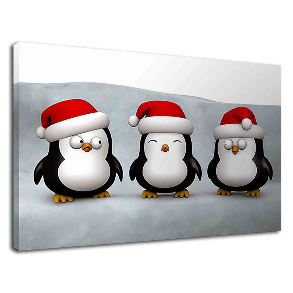 Cute Little Penguins Digital Art For Kids Bedroom