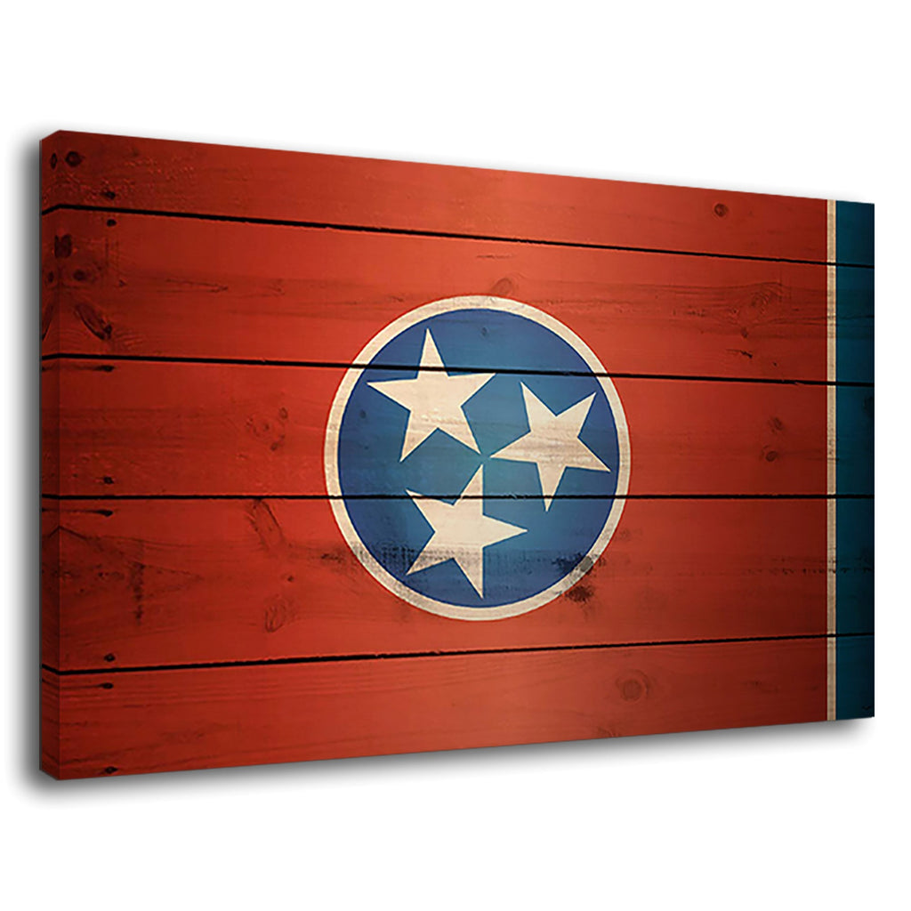 Flag Of Tennessee Grange Wooden Effect Usa America