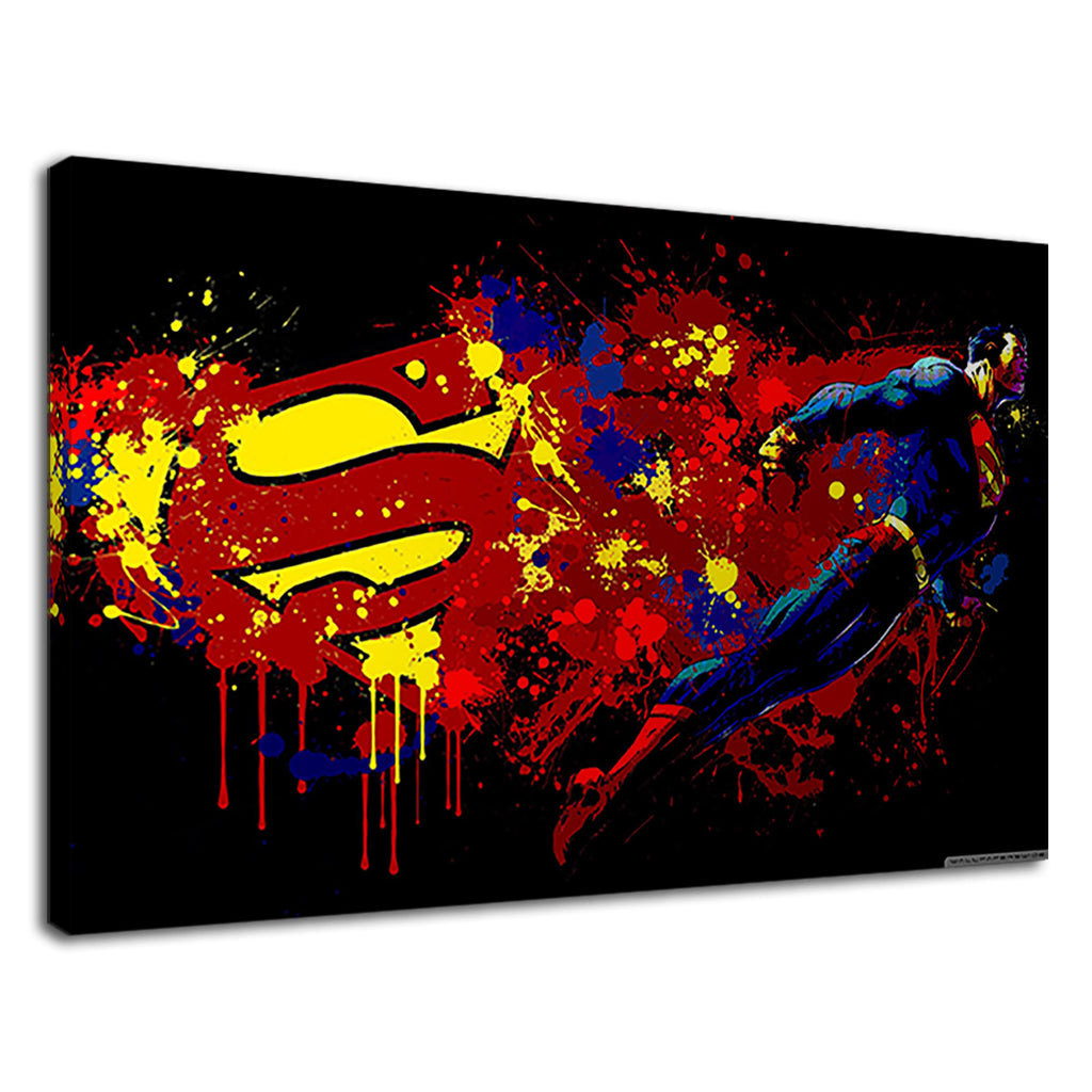 Superman Justice Paint Splatter Superhero Kids