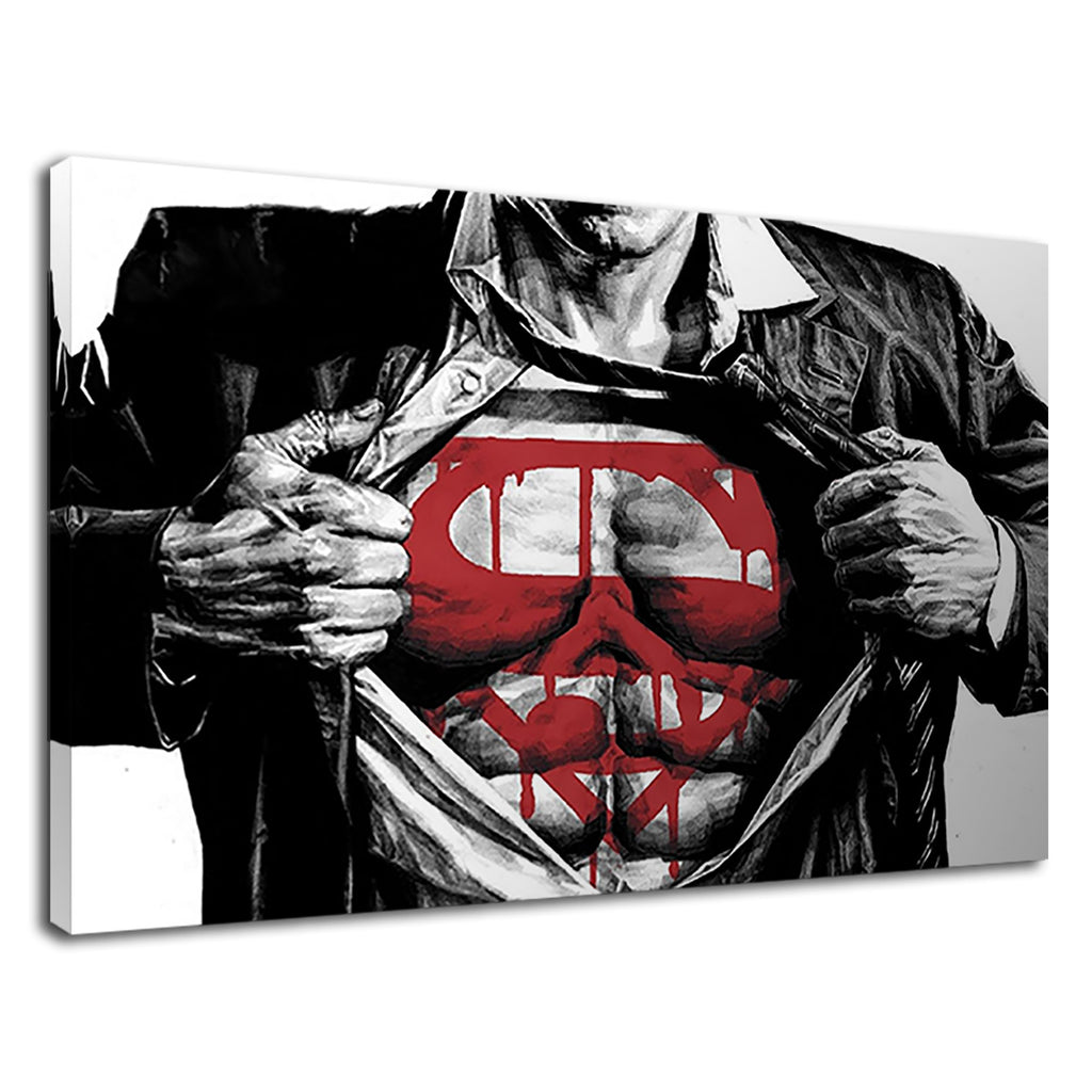 The Amazing Superman Torso Logo Kids Superhero