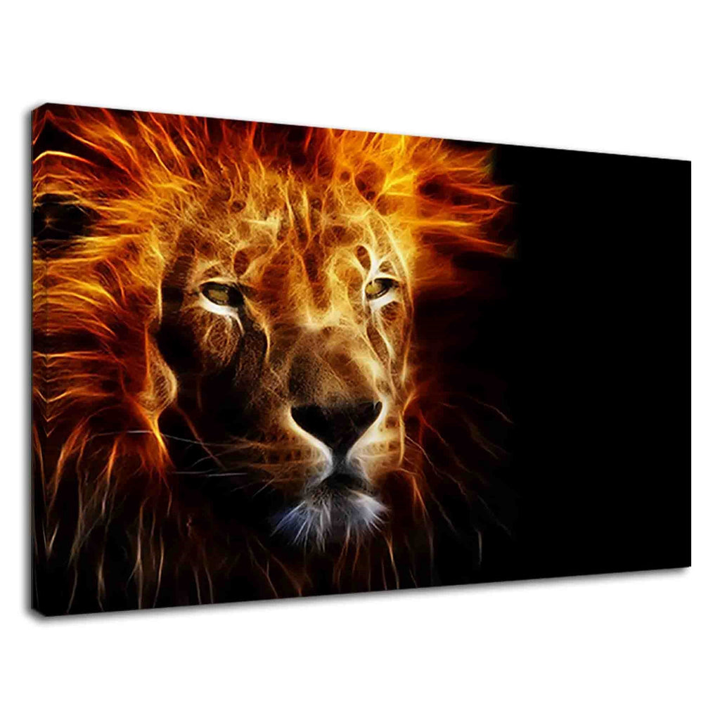 Face Of African Lion Digital Art For Drawing Room