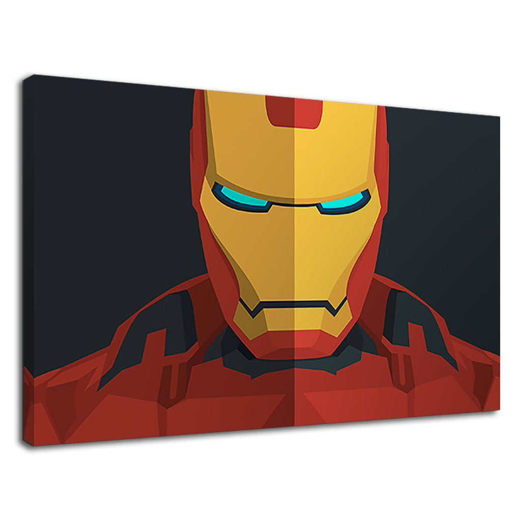 Minimalist Low Fi Iron Man Marvel Avengers Fan Art