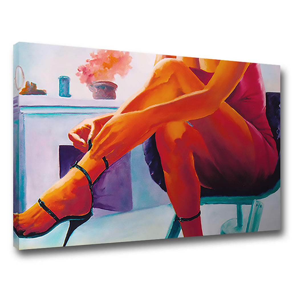Sex Appeal 1 Woman Legs Heels Painting Oil