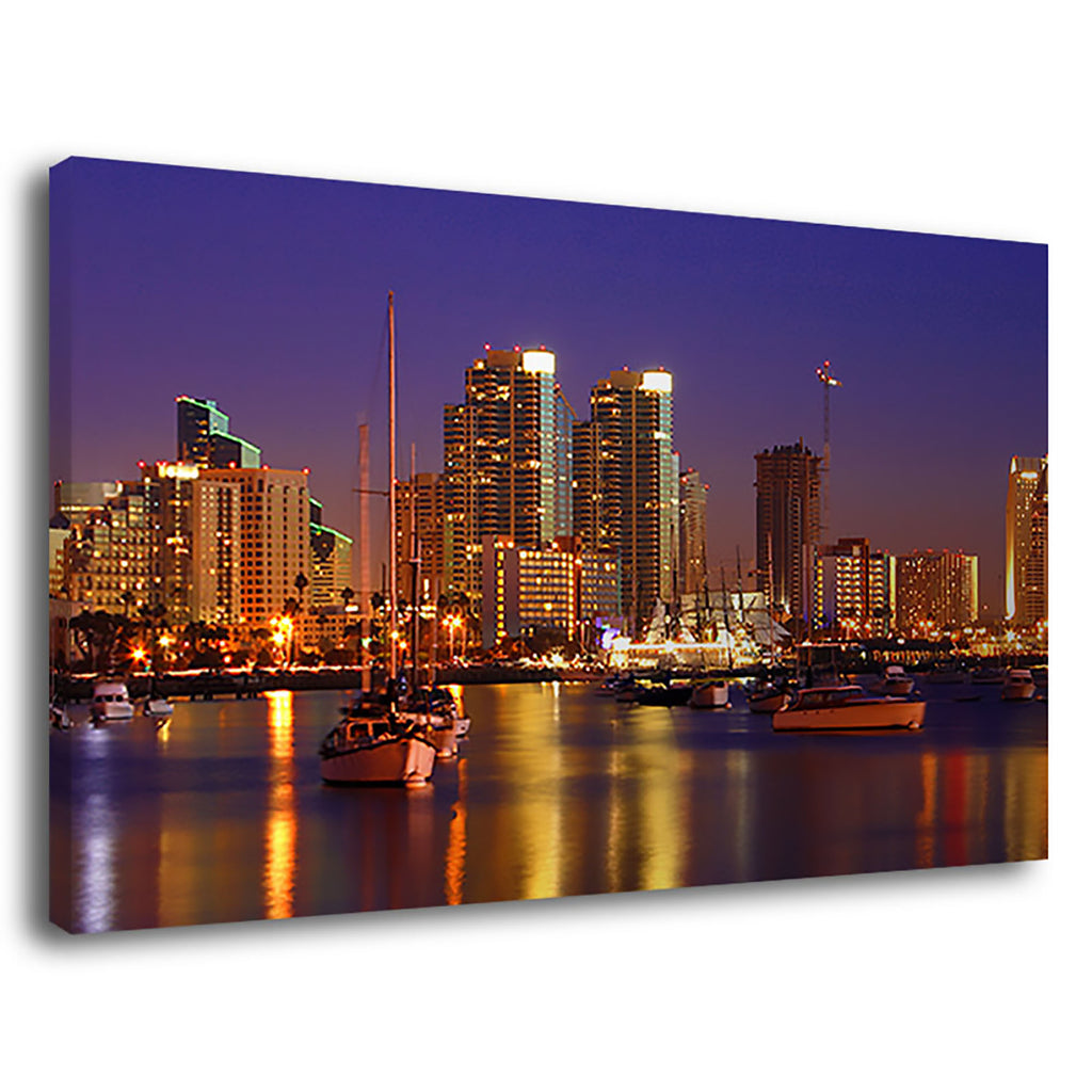 Sand Diego At Night San Diego Night Cityscape Sky