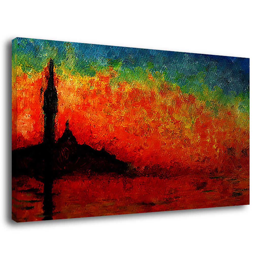 Abstract Burning Light Art Painting Abstract Red