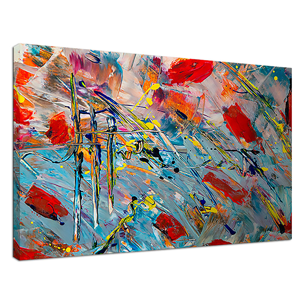 Beauty In Chaos Red Abstract Abstract Painting