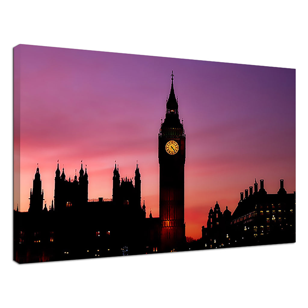 Big Ben Sunset Purple City & Urban Sunset London