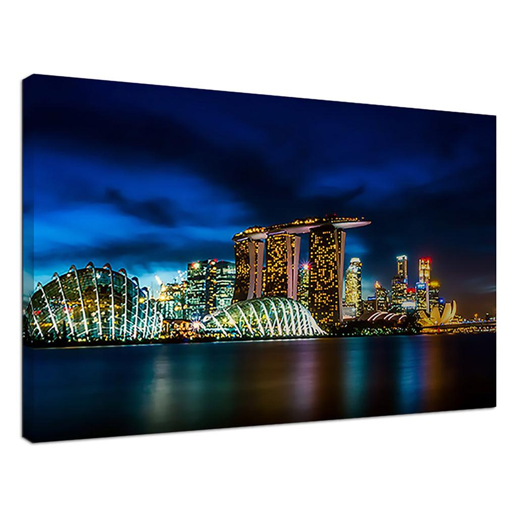 Singapore Skyline Blue Cityscape Skyline
