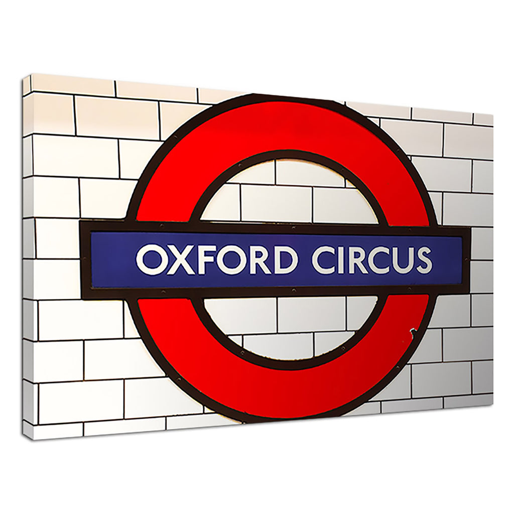 Oxford Circus Red Cityscape Tube London Subway