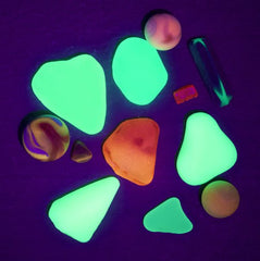 glowing uv sea glass