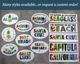 Santa Cruz Sea Glass Bumper Sticker - Rectangle