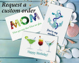 Sea Glass Martini Congratulations Card