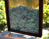 Collector Bling Beach Glass Display - White or Wood