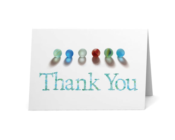 Sea Glass Marbles Thank You Card