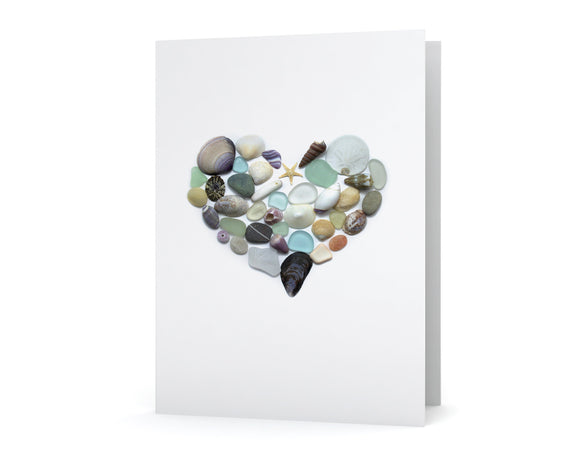 Sea Treasures Heart Card