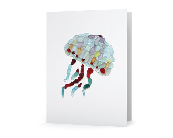 Sea Glass Jellyfish Card