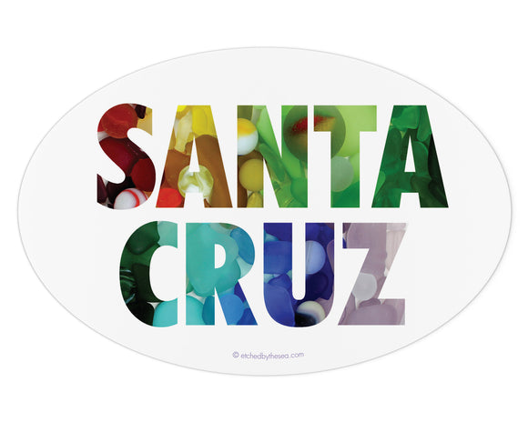Santa Cruz Sea Glass Bumper Sticker