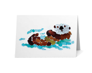 Sea Glass Sea Otter Card