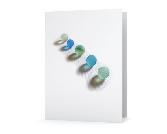 Sea Glass Marbles Card