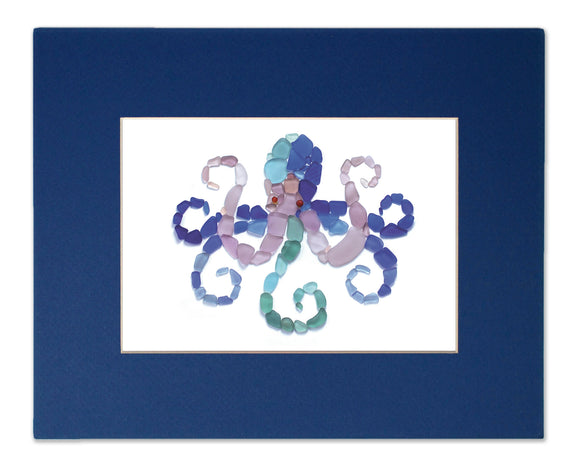 Sea Glass Octopus Matted Print