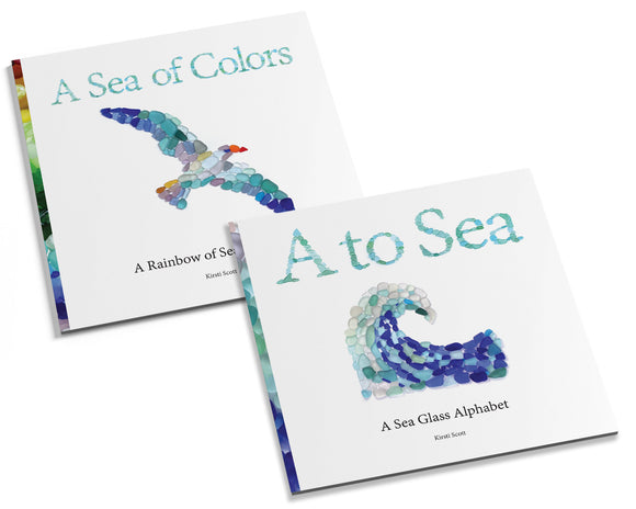 Sea Glass Books - Set of 2 - Alphabet and Colors