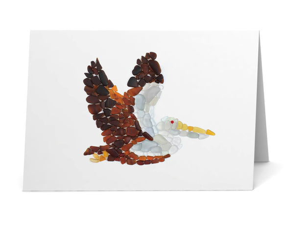 Sea Glass Pelican Card
