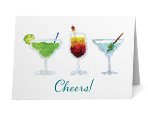 "Sea Glass Cocktails ""Cheers!"" Card"