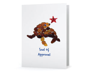 "Sea Glass ""Seal of Approval"" Card"