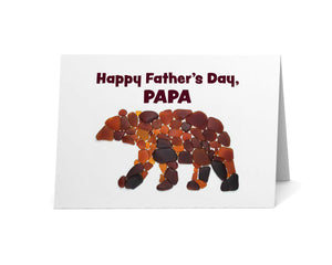 "Sea Glass Bear ""Happy Father's Day Papa"" Card"