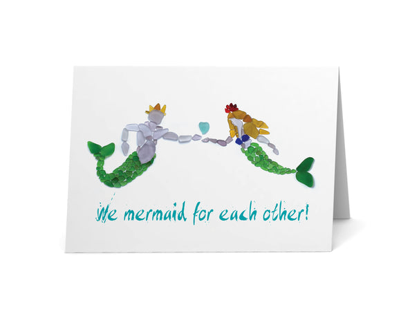 Sea Glass Mermaid and Merman