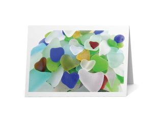 Sea Glass Hearts Card