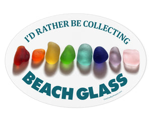 I'd Rather Be Collecting Beach Glass Laptop or Bumper Sticker