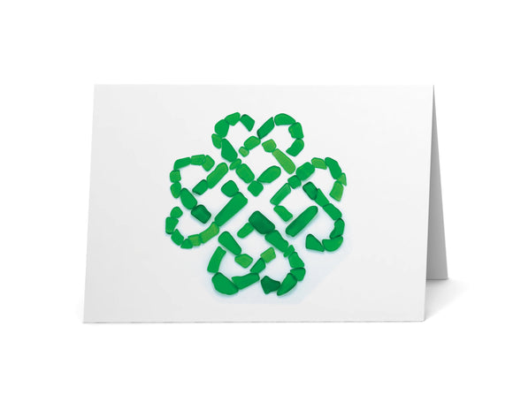 Sea Glass Heart Celtic Knot Card