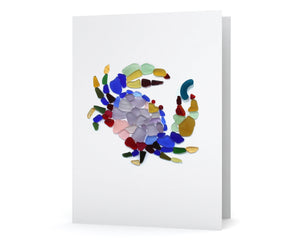 Sea Glass Dungeness Crab Card