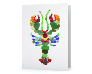 Sea Glass Lobster Card