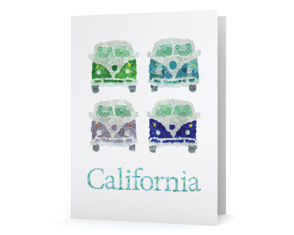 Sea Glass California Surfer Vans Card