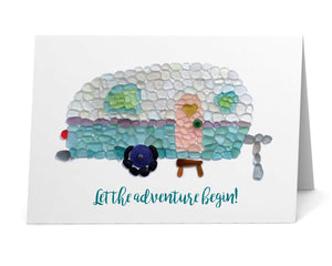 "Sea Glass Caravan ""Let the Adventure Begin!"" Card"