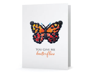 "Sea Glass Art ""You Give Me Butterflies"" Card"