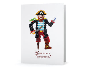 "Sea Glass Pirate ""You arrrr awesome!"" Card"