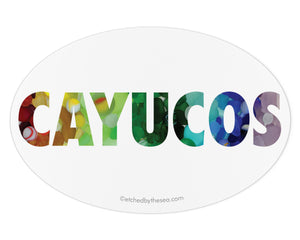 Cayucos Sea Glass Laptop or Bumper Sticker