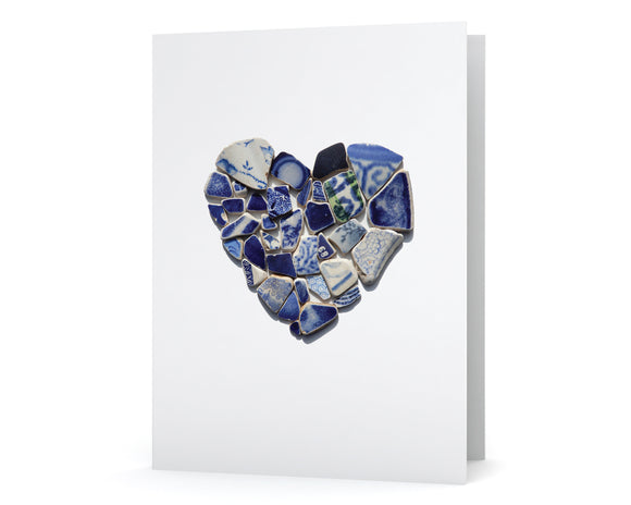 Blue Sea Pottery Heart Card