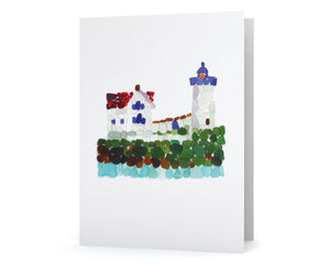 Sea Glass Lighthouse Note Card - Blank