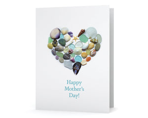 "Ocean Treasures Heart ""Happy Mother's Day"" Greeting Card"