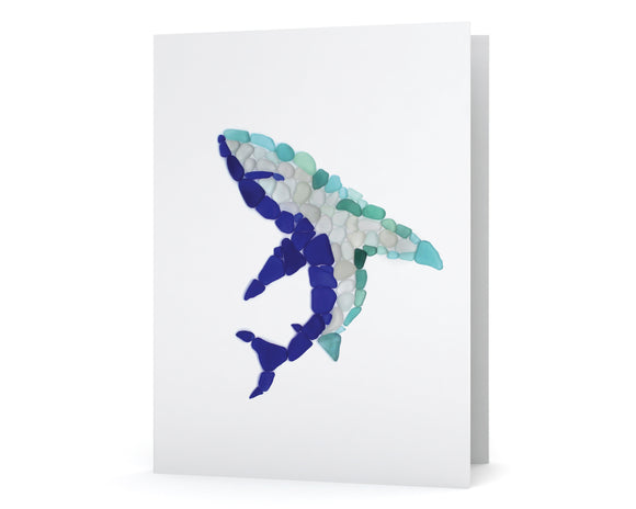 Sea Glass Shark Card