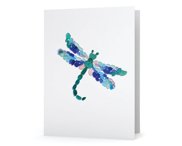 Sea Glass Dragonfly Card
