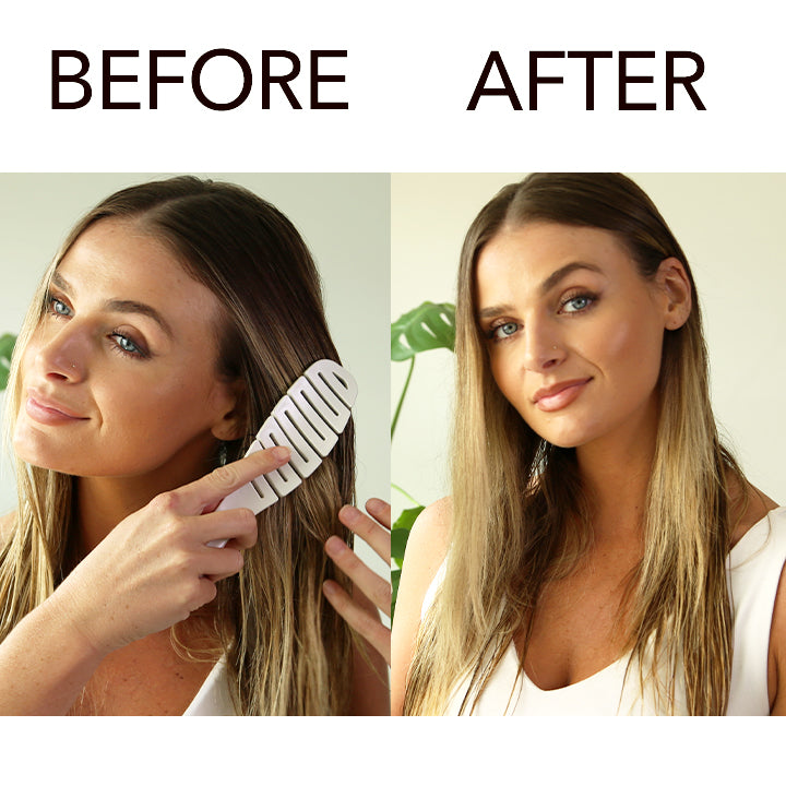 model-before-and-after-using-smoothie-brush-on-wet-hair
