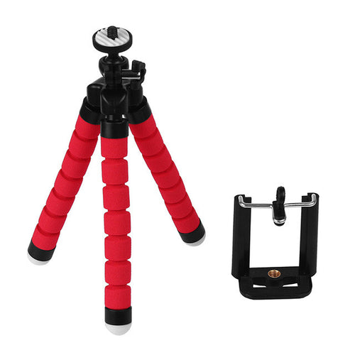 Mini Portable Flexible Tripod with Phone Holder Bracket Stand Tripod Kit