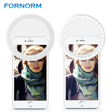 Load image into Gallery viewer, Smartphone Selfie Ring Light Rechargeable for iPhone 7 6 plus 6s 5s Samsung Sony